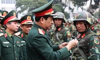 Thượng tướng Phan Văn Giang kiểm tra công tác sẵn sàng chiến đấu tại Lữ đoàn 144, ngày 20/1