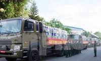 Lữ đoàn 972 (Cục Vận tải, Tổng cục Hậu cần) tiếp nhận, vận chuyển hơn 800 nghìn liều vắc xin về kho Bộ Y tế tại TPHCM, ngày 9/7