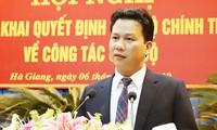 Tân Bí thư Tỉnh ủy Hà Giang Đặng Quốc Khánh.
