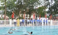 Bể bơi thanh thiếu nhi tỉnh Yên Bái sẽ góp phần chống tai nạn đuối nước cho các em học sinh.
