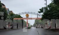 Thành phố Phủ Lý thực hiện giãn cách xã hội đối với 13 phường, xã từ 0 giờ sáng nay, 24/9 - Ảnh: Hoàng Long