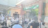 Thí sinh đến nhận phòng, nghe quy chế dự thi lớp 10 công lập tại Nam Định - Ảnh: Hoàng Long