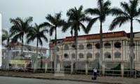 Trụ sở UBND huyện Đông Hưng, nơi phát hiện cán bộ tử vong tại phòng làm việc - Ảnh: Hoàng Long