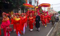 Lễ hội Phủ Dầy được tạm dừng để ngăn ngừa nguy cơ lây nhiễm - Ảnh: Hoàng Long