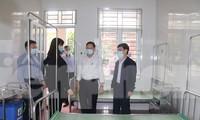 Bệnh nhân trở về từ Bệnh viện Bạch Mai tại Bệnh viện Đa khoa tỉnh Nam Định được cách ly, điều trị - Ảnh: Hoàng Long