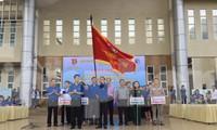 DVTN Nam Định ra quân thực hiện chiến dịch Tình nguyện hè 2020 - Ảnh: Hoàng Long