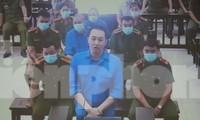 Phạm Văn Hiệp phủ nhận cáo buộc về vai trò chỉ đạo giúp Nguyễn Thị Dương thắng thầu đấu giá đất - Ảnh: Hoàng Long