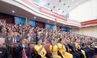 Lúc 2 giờ ngày 20/9, Đại hội Đảng bộ tỉnh Hà Nam lần thứ XX bắt đầu khai mạc. Ảnh: Hoàng Long