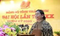 Uỷ viên Bộ Chính trị, Phó Chủ tịch Thường trực Quốc hội phát biểu chỉ đạo tại Đại hội Đảng bộ tỉnh Thái Bình - Ảnh: Hoàng Long