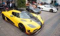 Nhà sản xuất siêu xe Thụy Điển vừa tổ chức một hành trình diễu hành qua một số thành phố ở nước này và nước lân cận Đan Mạch cho hơn 10 người là chủ nhân của những chiếc Koenigsegg.
