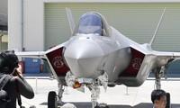 Chiếc máy bay chiến đấu F-35A đầu tiên do Nhật Bản lắp ráp tại lễ công bố.