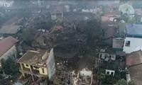 Hiện trường vụ nổ ở Bắc Ninh.