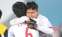 Cầu thủ U23 Việt Nam òa khóc sau trận thắng Qatar nghẹt thở