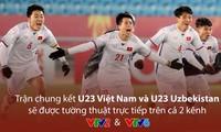 Khán giả và người hâm mộ cả nước sẽ theo dõi và cổ vũ cho U23 Việt Nam trên cả 2 kênh VTV2 và VTV6.