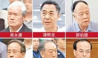 """6 """"Hổ lớn"""" cấp quốc gia bị điểm mặt (từ trên xuống, từ trái qua là Chu Vĩnh Khang, Bạc Hy Lai, Quách Bá Hùng, Lệnh Kế Hoạch, Tô Vinh, Tôn Chính Tài)."""