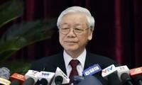 Tổng Bí thư Nguyễn Phú Trọng phát biểu khai mạc Hội nghị. Ảnh: VGP