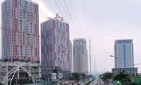 Dự án Usilk City nằm ở cuối đường Tố Hữu, quận Hà Đông (Hà Nội). Ảnh: P.T.
