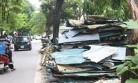 Hà Nội: Rác thải ngổn ngang trên đường Phan Kế Bính