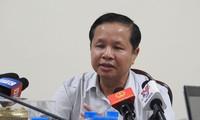 Ông Bùi Trọng Đắc - Giám đốc Sở GD&ĐT Hòa Bình - cho biết yêu cầu cá nhân liên quan tự kiểm điểm là công tác bình thường. Ảnh: Quyên Quyên.