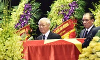 Lãnh đạo Đảng, Nhà nước chào Chủ tịch nước Trần Đại Quang lần cuối