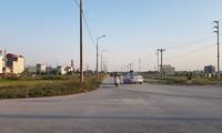 Tuyến đường 68m địa bàn xã Liêm Chung, thành phố Phủ Lý có chiều dài khoảng 1,86km với tổng mức đầu tư khoảng gần 200 tỷ đồng. Ảnh: Ninh Phan.