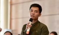 """Nguyễn Văn Doanh tại tọa đàm """"Ngăn ngừa bạo lực học đường để trẻ em không đơn độc"""". Ảnh: Mạnh Thắng."""