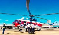 Trực thăng sẽ vận chuyển đề thi THPT quốc gia từ TP Vũng Tàu ra Côn Đảo. Ảnh: Nam Nguyễn.