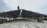 Công trình điện mặt trời mái nhà trong một trang trại vùng rú cát tại huyện Quảng Điền, tỉnh TT-Huế.