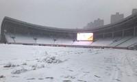 Sân Thường Châu, nơi diễn ra trận chung kết, phủ kín tuyết.
