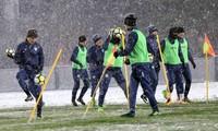 U23 Uzbekistan tập luyện vào chiều nay. Ảnh: Tri Thức Trẻ