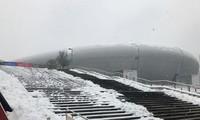 Tuyết phủ bên ngoài sân vận động Thường Châu sáng 27/1.