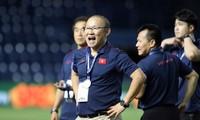 HLV Park Hang Seo không tham dự buổi họp báo sau trận chung kết.
