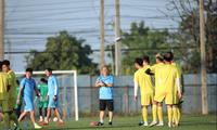 U23 Việt Nam đang tích cực tập luyện chuẩn bị cho VCK U23 châu Á 2020. Ảnh Đạt Đạt