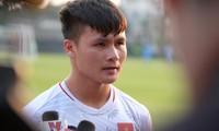Nguyễn Quang Hải và các đồng đội sẽ có thử thách khó khăn trước Triều Tiên vào ngày mai, 16/1.