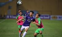 Hà Nội vượt trội so với đội Hạng nhất Đồng Tháp trong trận đấu trên sân Hàng Đẫy chiều 31/5.