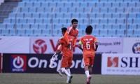 Hà Đức Chinh có bàn thắng đầu tay ở LS V-League 2021 (ảnh TNO)