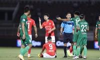 Lee Nguyễn có bàn thắng đầu tiên trong màu áo Tp Hồ Chí Minh ở mùa giải năm nay. (ảnh Viên Viên)