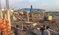 Hiện trường vụ sập tường khiến hàng chục người thương vong ở Đồng Nai