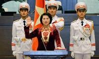 Bà Nguyễn Thị Kim Ngân tuyên thệ nhậm chức vào 5 năm trước, trở thành nữ Chủ tịch Quốc hội đầu tiên trong lịch sử Quốc hội Việt Nam.