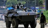 Xe bọc thép chở quân của quân đội Philippines Amai Pakpak, Marawi. Ảnh: Reuters