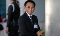 Cựu Bộ trưởng Thương mại Thái Lan Boonsong Teriyapirom có mặt tại trụ sở Tòa án Tối cao ở Bangkok ngày 25/8. Ảnh: Reuters