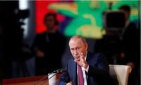Tổng thống Nga Putin trả lời các câu hỏi trong cuộc họp báo hôm 14/12. Ảnh: Reuters