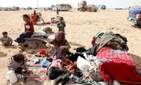 Người tị nạn ở Syria. Ảnh: Reuters