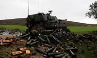 Vỏ đạn rỗng của quân đội Thổ Nhĩ Kỳ được nhìn thấy ở Hatay, tỉnh biên giới với Syria. Ảnh: Reuters