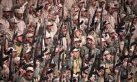 Lực lượng dân quân người Kurd ở Hasaka, đông bắc Syria, trong một cuộc mít tinh vào ngày 23/1. Ảnh: Reuters