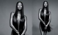 'Báo đen' Naomi Campbell nude 100% khoe hình thể như tạc tuổi 48
