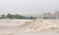 Phó Thủ tướng Trịnh Đình Dũng và đoàn công tác đến kiểm tra công tác ứng phó bão số 3 tại tỉnh Quảng Ninh. Ảnh: TTXVN