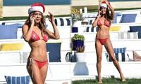 Cựu siêu mẫu Playboy U50 đón Giáng sinh nóng bỏng với bikini đỏ bé xíu