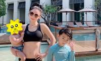 Trương Bá Chi hiếm hoi đăng ảnh đi bơi, vòng eo thon nuột dù đã ba con