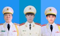 Bộ Công an thông báo về tang lễ 3 chiến sĩ hy sinh tại Đồng Tâm